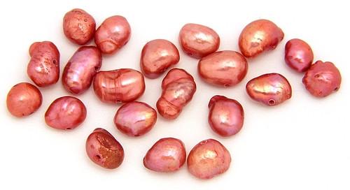 Süßwasser-Zuchtperlen rosarot 20Stk