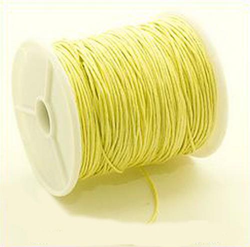Schmuckkordel ca. 1mm gelb 73m