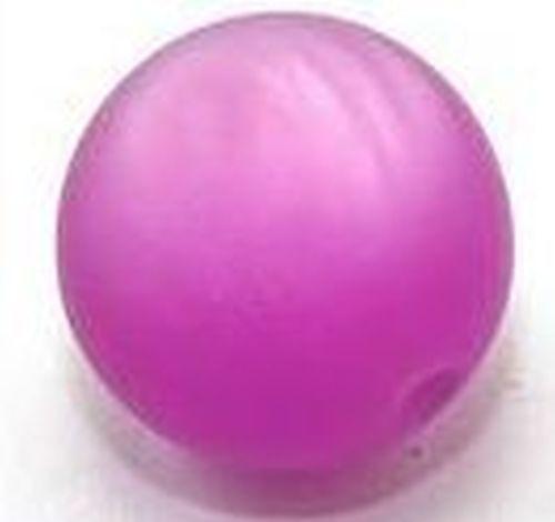 Polar-Perle MATT ca. 20mm #06 lila 1Stk