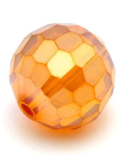 Glasschliffperle ca. 12mm orange AB