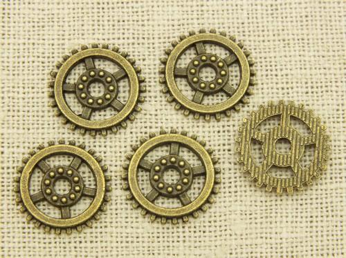 Steampunk Zahnräder Horatio ca. 18x18x2mm antikfarben 5Stk