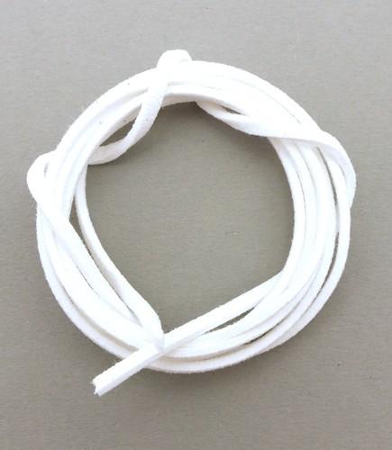 Veloursband ca. 3mm breit weiß 1m