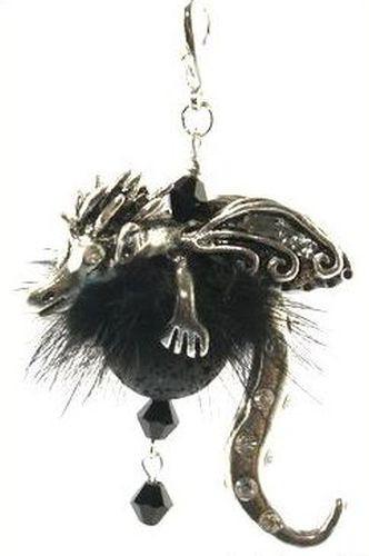 Drachenlady Godiva Kette schwarz ca. 80 x 55mm