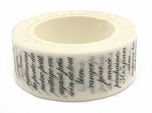 Rolle Washi Tape Schrift ca. 15mm breit