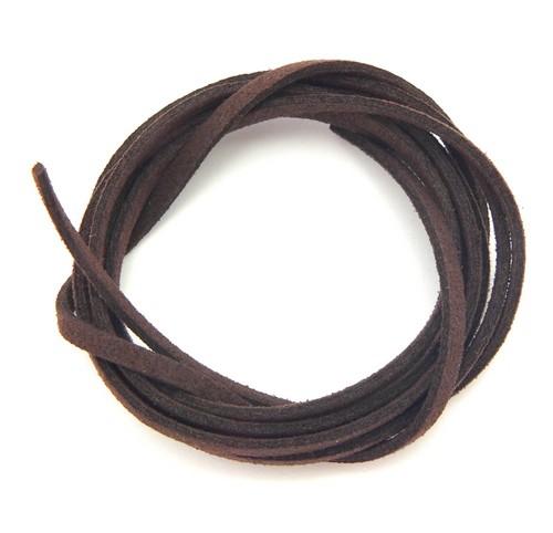 Veloursband ca. 3mm breit braun 1m