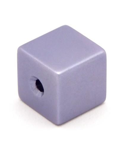 Loxalu® Beads Würfel ca. 8 x 8mm fliederblau 1Stk