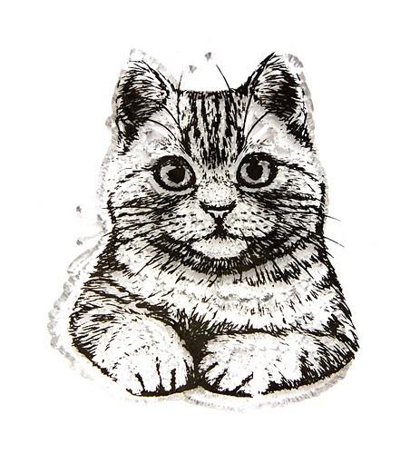 Stempel Katze 1Stk
