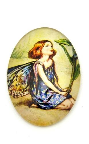 100 x 32mm antikfarben 1 ovales Lesezeichen Rosenblüte für Cabochons ca