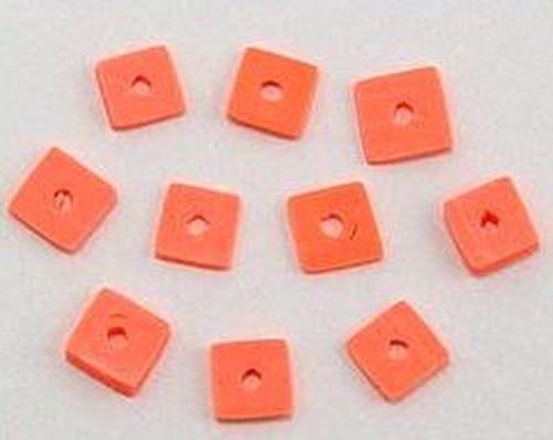 Papillon Würfelplättchen ca. 6 x 6mm orange 10Stk