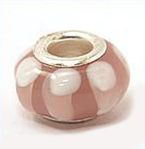 Wechselperle R5 ca. 14mm rosa weiß 1Stk