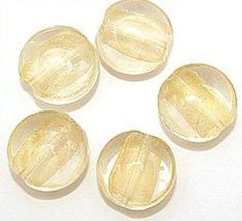 Goldfoil-Münzen klar (#29) ca. 20mm 5Stk