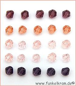 Bicone-Mix rosa ca. 4mm 25Stk