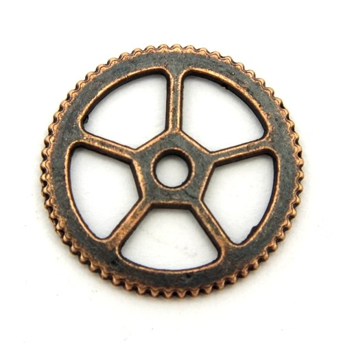 Steampunk Zahnrad Charles ca. 18x1mm kupferfarben