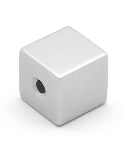 Loxalu® Beads Würfel ca. 8 x 8mm silberfarben