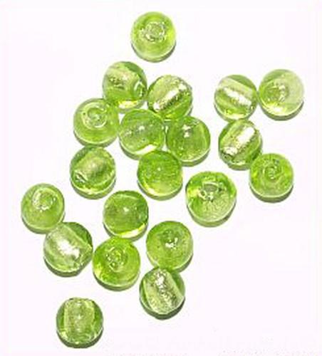 Silverfoil-Perlen, froschgrün ( Nr. 10 ) 8mm 20Stk