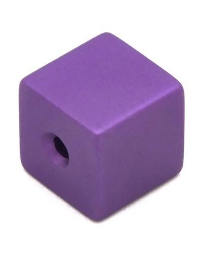 Loxalu® Beads Würfel ca. 8 x 8mm lila 1Stk