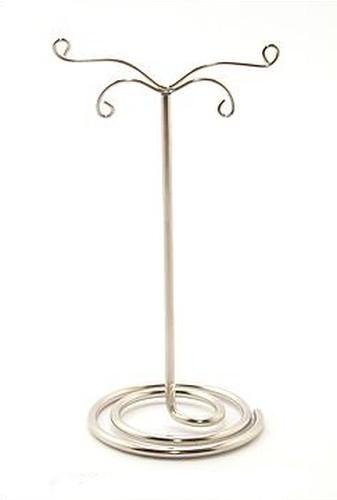 Metall-Ohrringständer ca. 5 x 11cm silberfarben