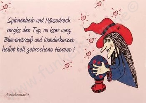 Hexenkarte - Liebeskummer 1Stk