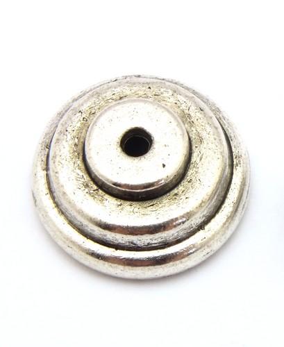 Perlkappe Tessa ca. 19mm altsilberfarben 1Stk