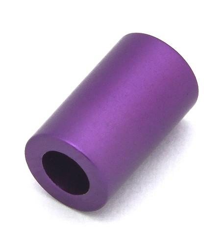 Loxalu® Beads Röhrchen ca. 10 x 6mm lila 1Stk