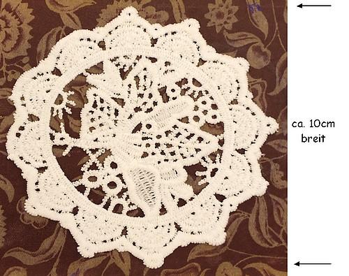 Häkelspitze Flower Patch ca. 10cm altweiss