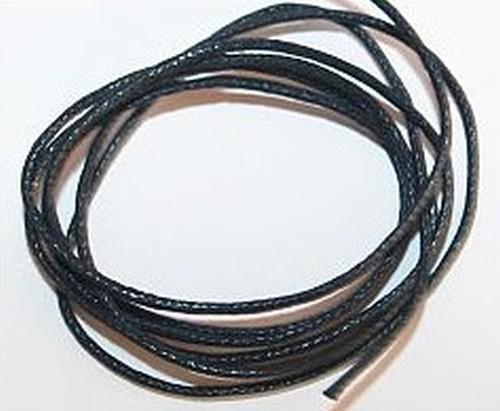 Schmuckkordel Stärke 1mm schwarz 1m