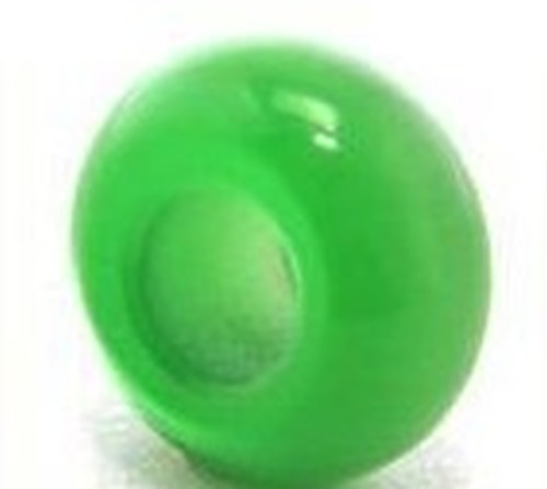 Großloch Cateye-Ring ca. 11 x 7mm grün