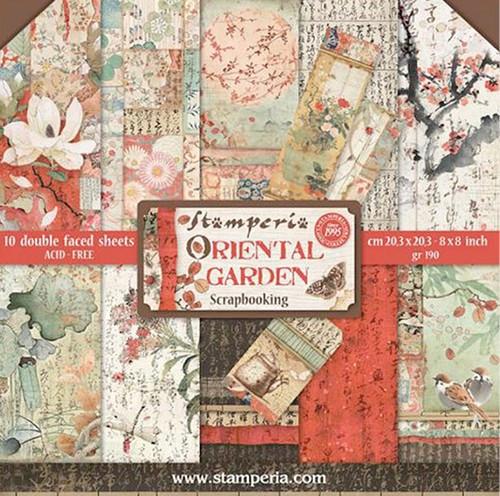 Stamperia Papierset Oriental Garden 20,3 x 20,3 cm