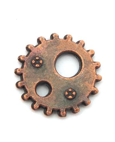 Steampunk Zahnrad Rusty ca. 12 x 1mm kupferfarben