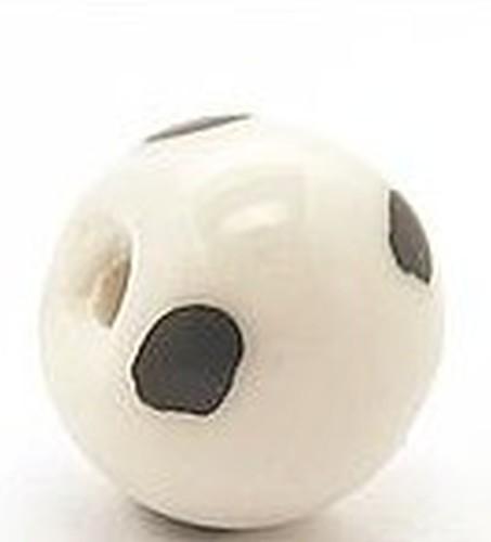 Keramikperle Kikubwa ca. 18mm schnee