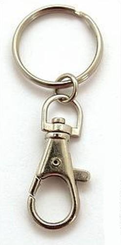 Schlüsselanhänger, silberfarben 1Stk
