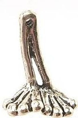 Ätschfrosch®-Füsse ca. 25mm altsilberfarben Paar 1Stk