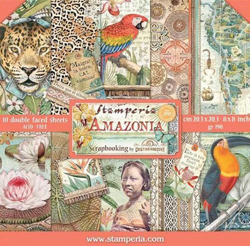Stamperia Papierset Amazonia 20,3 x 20,3 cm