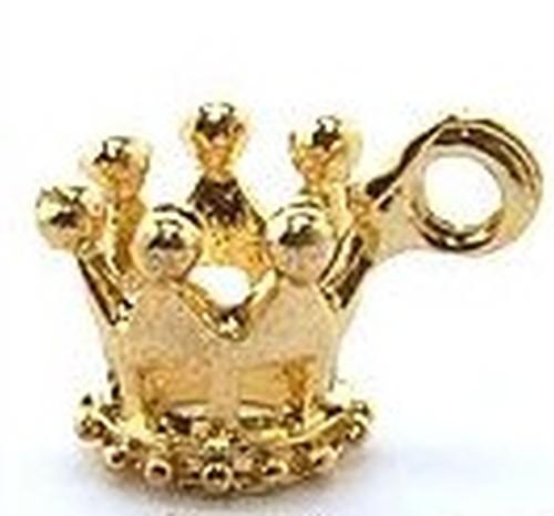 Metallanhänger Krone Prinzessin ca. 12x10mm goldfarben 1Stk