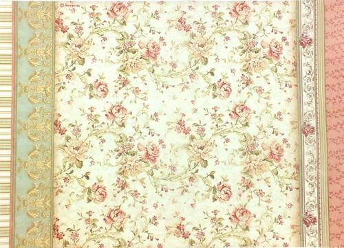 Stamperia Rice Papier Roses A3 1 Bogen