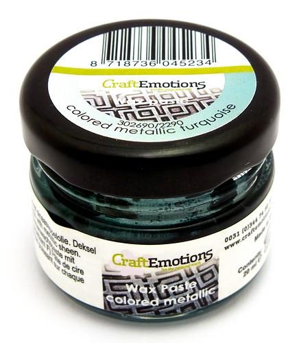 Craft Emotions Gilding Wax metallic türkis 20ml 1Stk