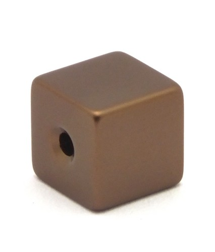 Loxalu® Beads Würfel ca. 8 x 8mm braun 1Stk