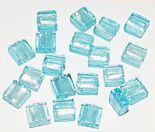 Silverfoil-Quadrate, saphire ( Nr. 03 ) 10x10x5mm