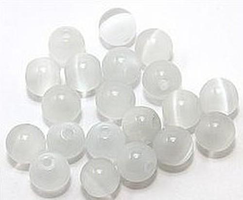 Cateyekugeln ca. 6mm (Nr. dx03) weiß