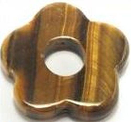 Tigerauge Blümchen Donut ca. 32mm