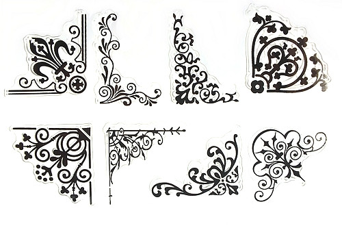 Stempel-Set PRETTY CORNER ca. 10x15mm 1Stk