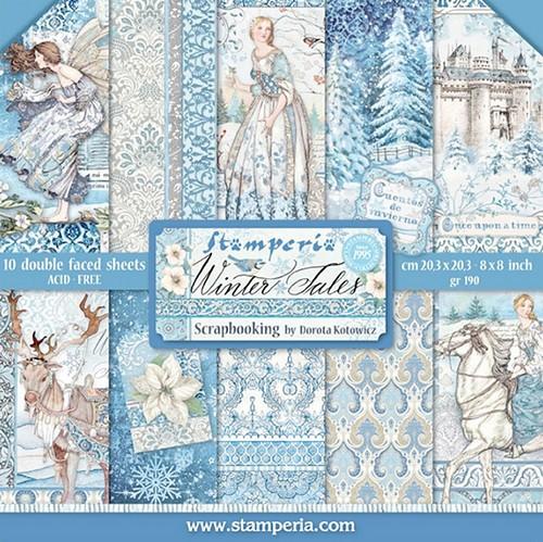 Stamperia Papierset Winter Tales 20,3 x 20,3 cm