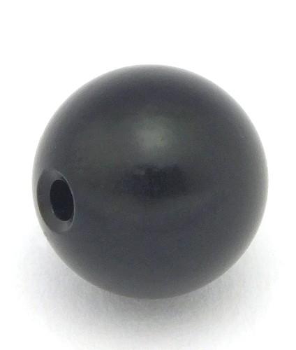 Loxalu® Beads Kugel ca. 10mm schwarz 1Stk
