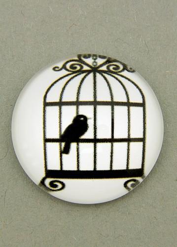 schwarz-weiß Cabochon Käfig A ca. 20mm