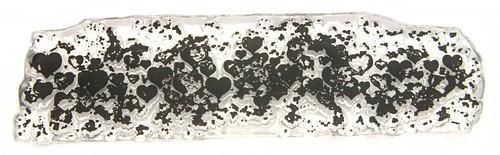 Stempel Grunge Hearts ca. 78 x 23 mm 1Stk