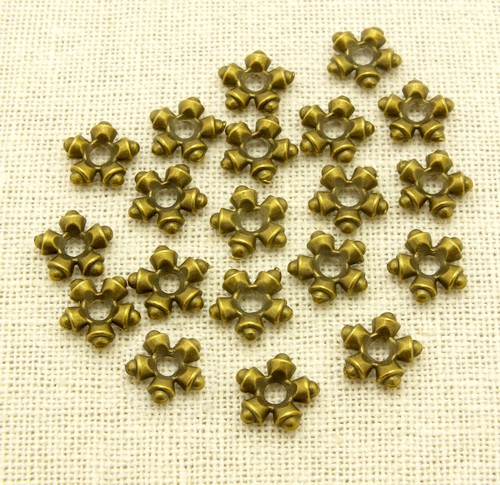 Steampunk Perle Snowflake ca. 11mm antikfarben 20Stk