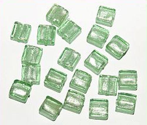Silverfoil-Quadrate, apfelgrün ( Nr. 09 ) 10x10x5mm