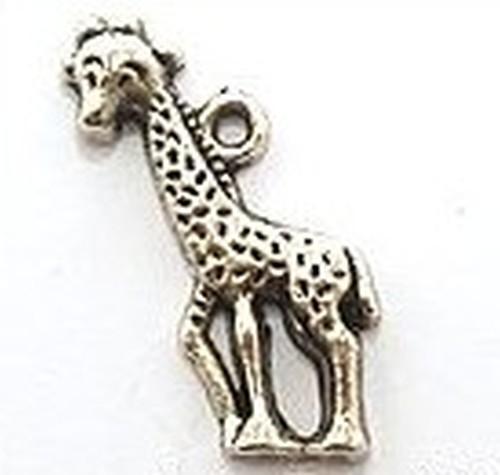 Metallanhänger Giraffe ca. 22 x 17mm silberfarben