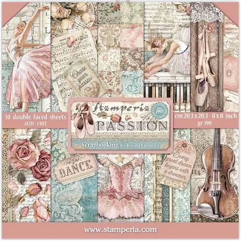 Stamperia Papierset Passion 20,3 x 20,3 cm