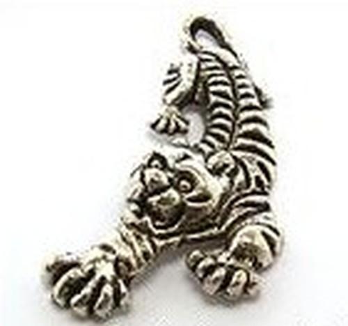 Metallanhänger Tiger ca. 34 x 20mm altsilberfarben 1Stk